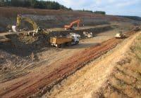 Movimiento de tierras en obra lineal