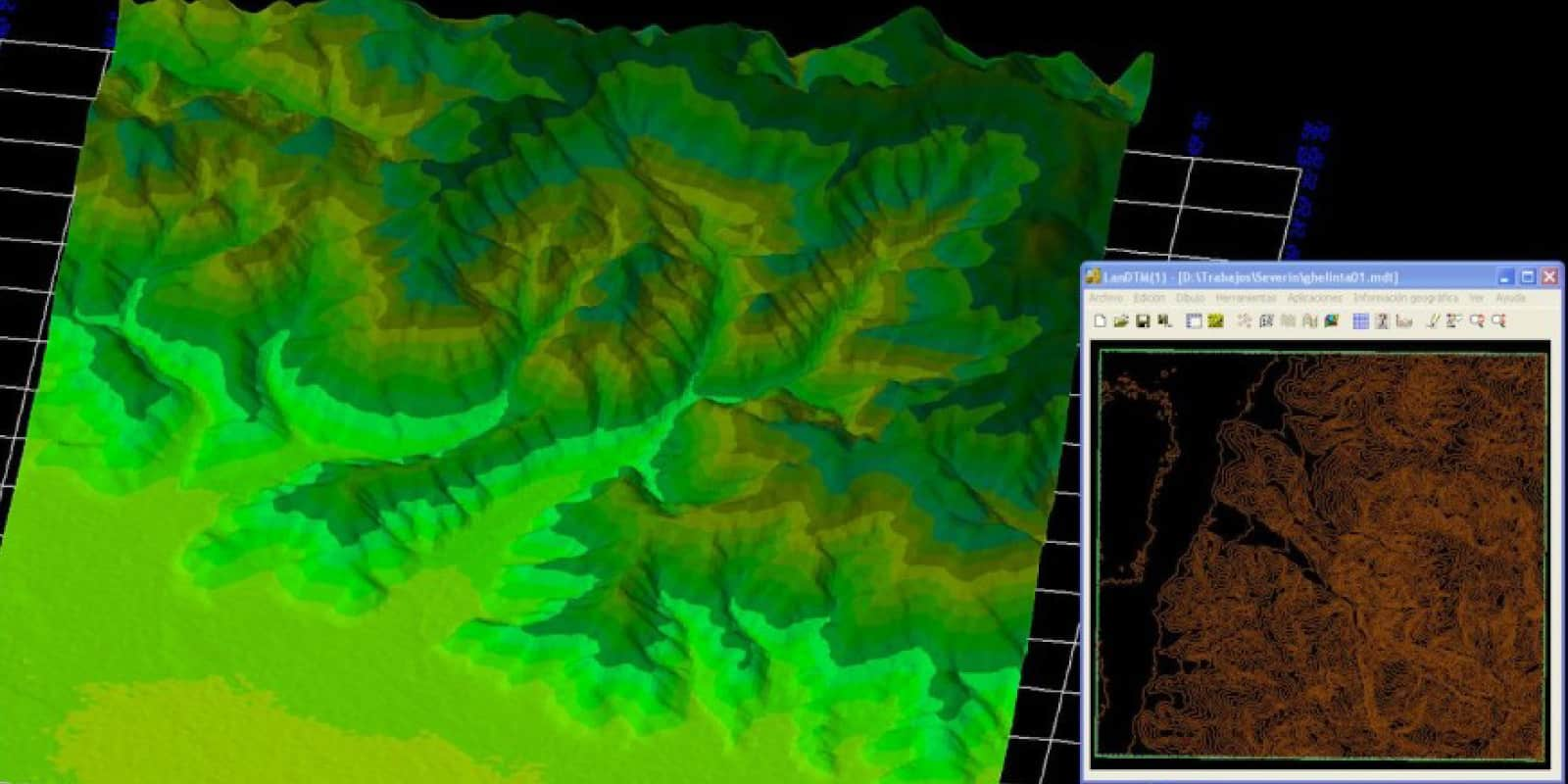 Modelo digital del terreno en Protopo